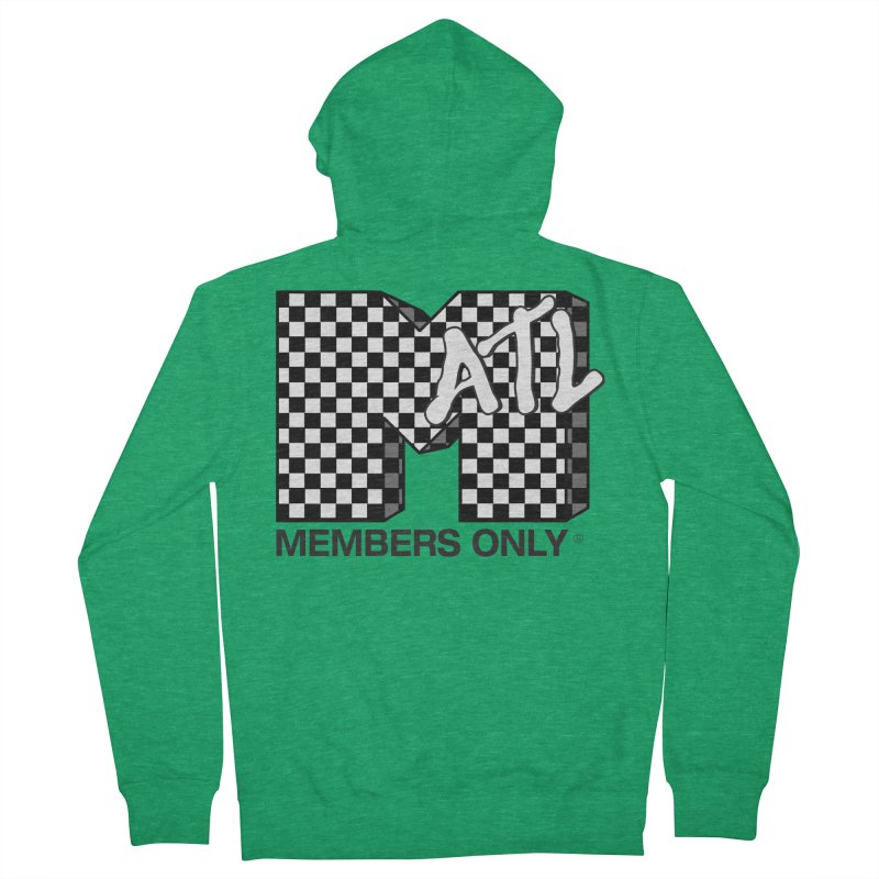I want my Members Only- Checker Women's French Terry Zip-Up Hoody by Members Only ATL Artist Shop
