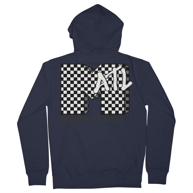 I want my Members Only- Checker Men's French Terry Zip-Up Hoody by Members Only ATL Artist Shop