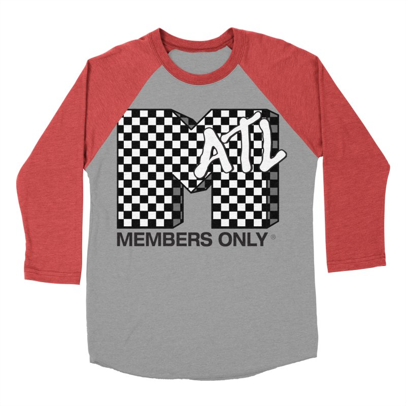 I want my Members Only- Checker Men's Baseball Triblend Longsleeve T-Shirt by Members Only ATL Artist Shop