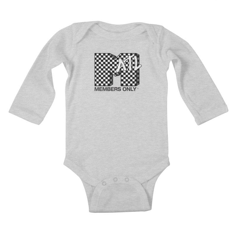 I want my Members Only- Checker Kids Baby Longsleeve Bodysuit by Members Only ATL Artist Shop