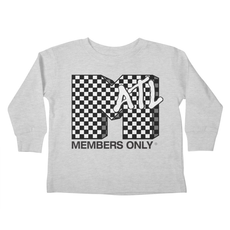 I want my Members Only- Checker Kids Toddler Longsleeve T-Shirt by Members Only ATL Artist Shop