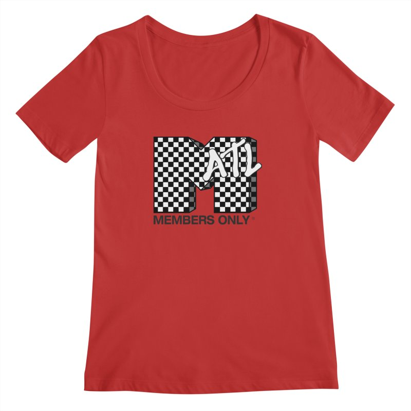 I want my Members Only- Checker Women's Regular Scoop Neck by Members Only ATL Artist Shop