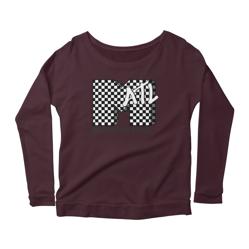 I want my Members Only- Checker Women's Scoop Neck Longsleeve T-Shirt by Members Only ATL Artist Shop