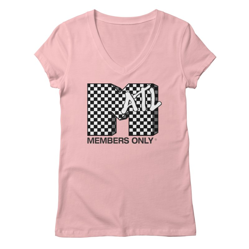 I want my Members Only- Checker Women's Regular V-Neck by Members Only ATL Artist Shop