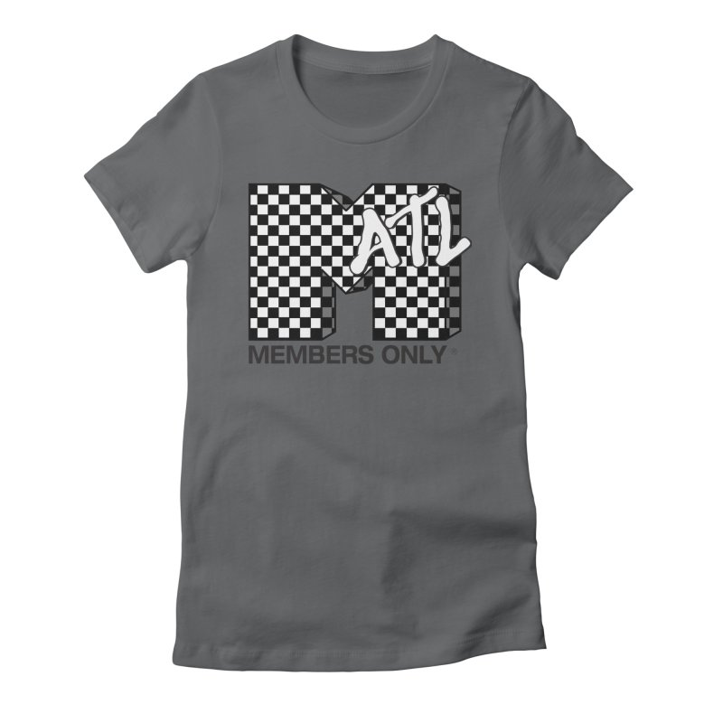 I want my Members Only- Checker Women's Fitted T-Shirt by Members Only ATL Artist Shop