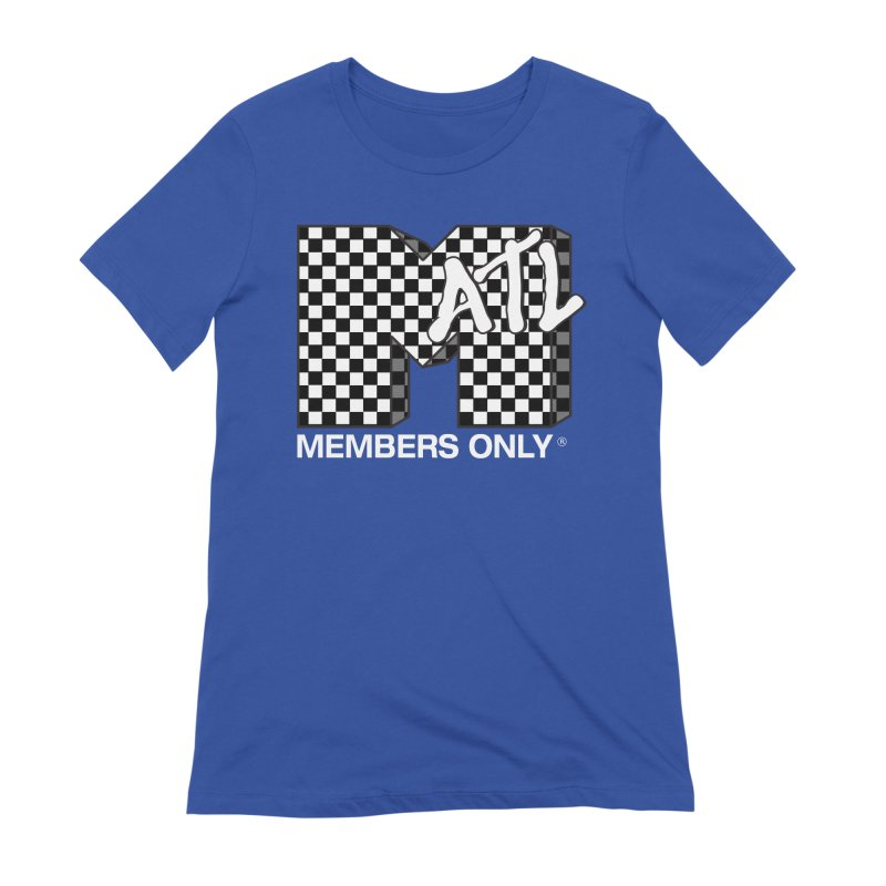 I Want My Members Only Checker White Women's Extra Soft T-Shirt by Members Only ATL Artist Shop