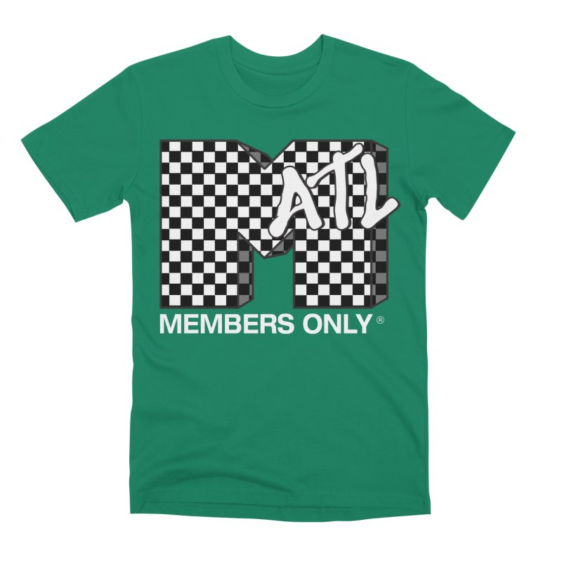I Want My Members Only Checker White Men's Premium T-Shirt by Members Only ATL Artist Shop