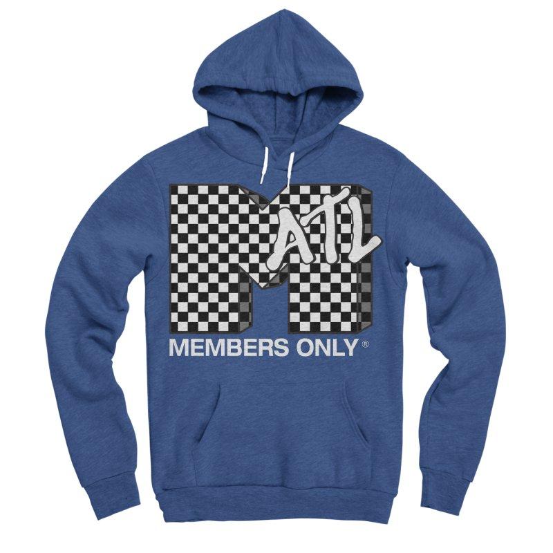 I Want My Members Only Checker White Men's Sponge Fleece Pullover Hoody by Members Only ATL Artist Shop