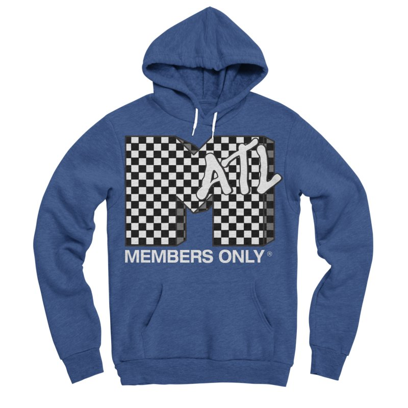 I Want My Members Only Checker White Women's Sponge Fleece Pullover Hoody by Members Only ATL Artist Shop