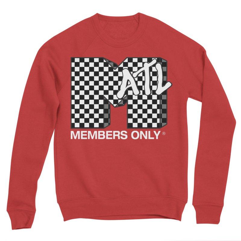 I Want My Members Only Checker White Men's Sponge Fleece Sweatshirt by Members Only ATL Artist Shop