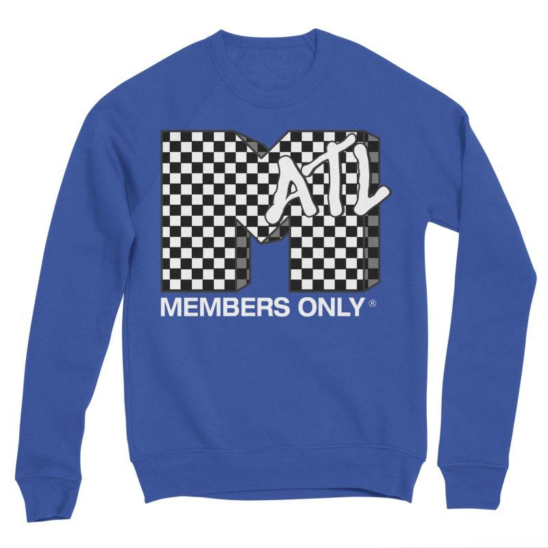 I Want My Members Only Checker White Women's Sponge Fleece Sweatshirt by Members Only ATL Artist Shop
