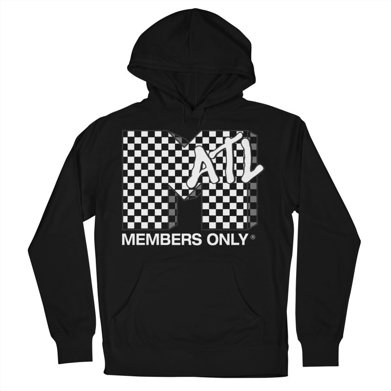 I Want My Members Only Checker White Women's French Terry Pullover Hoody by Members Only ATL Artist Shop