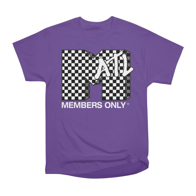 I Want My Members Only Checker White Men's Heavyweight T-Shirt by Members Only ATL Artist Shop