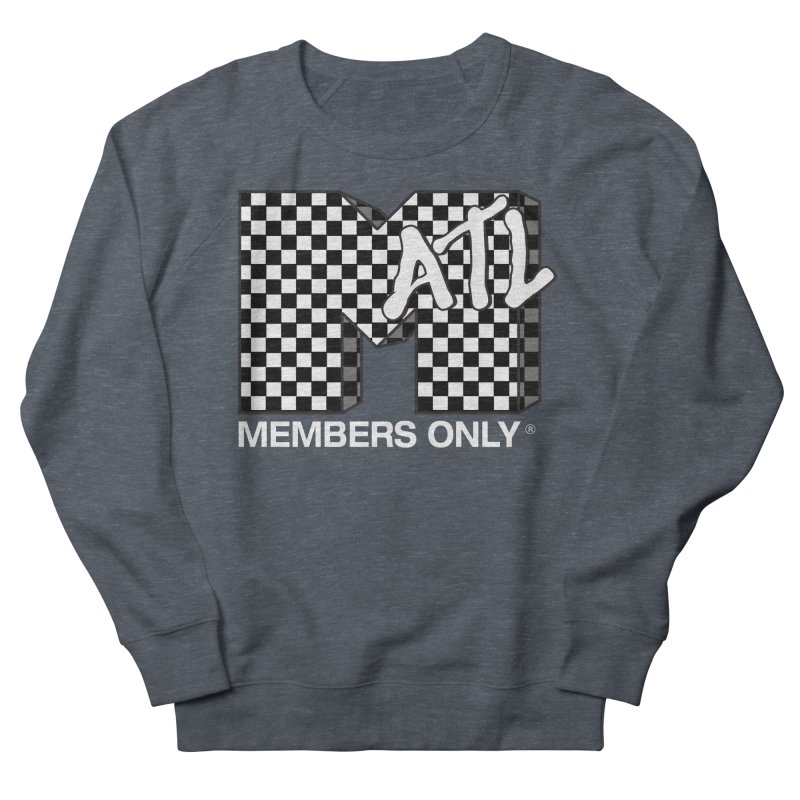 I Want My Members Only Checker White Women's French Terry Sweatshirt by Members Only ATL Artist Shop