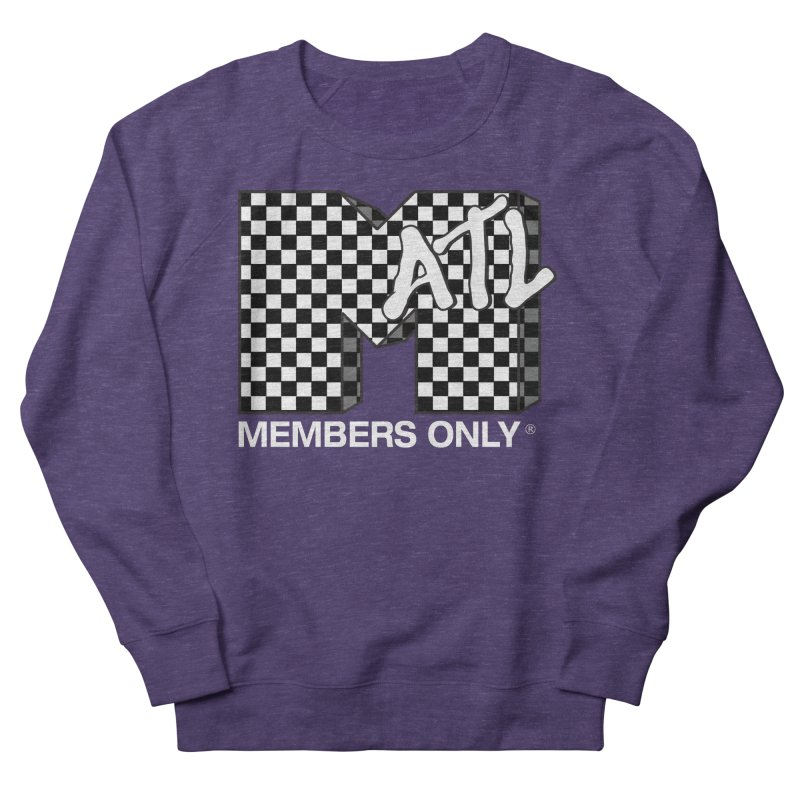 I Want My Members Only Checker White Men's French Terry Sweatshirt by Members Only ATL Artist Shop