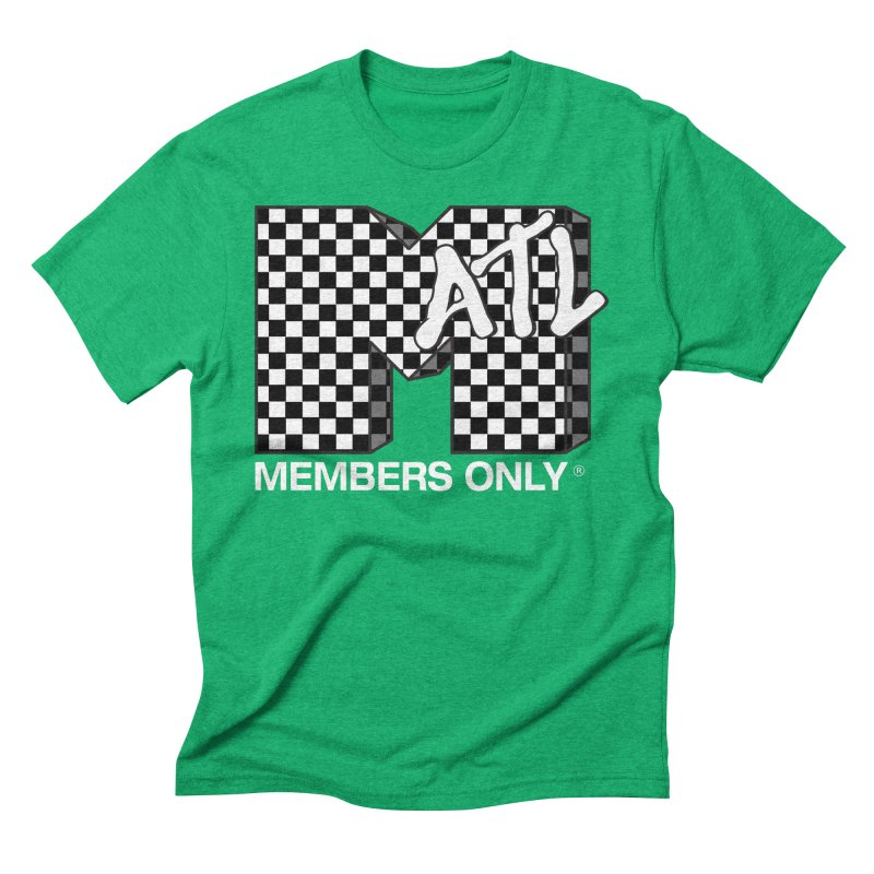 I Want My Members Only Checker White Men's Triblend T-Shirt by Members Only ATL Artist Shop