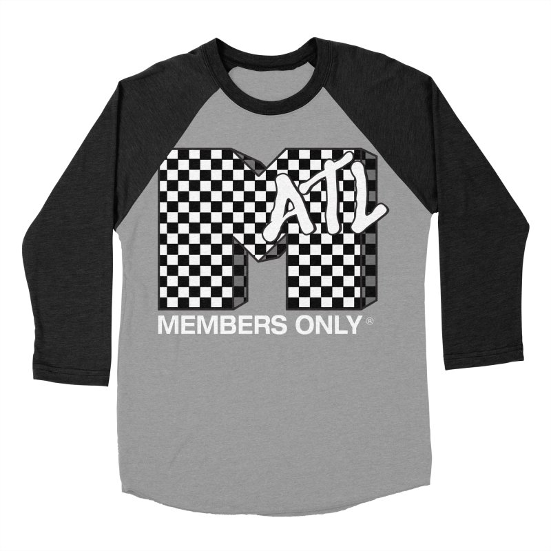 I Want My Members Only Checker White Women's Baseball Triblend Longsleeve T-Shirt by Members Only ATL Artist Shop