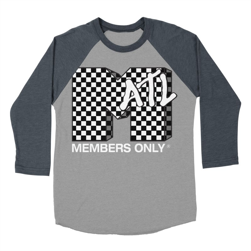 I Want My Members Only Checker White Men's Baseball Triblend Longsleeve T-Shirt by Members Only ATL Artist Shop