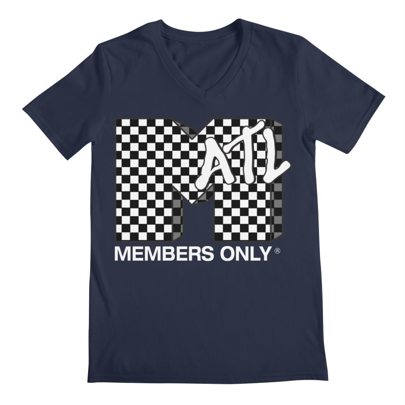I Want My Members Only Checker White Men's Regular V-Neck by Members Only ATL Artist Shop