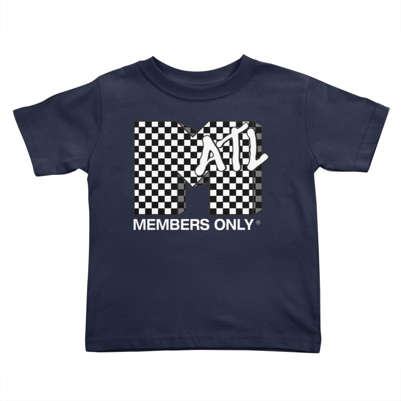 I Want My Members Only Checker White Kids Toddler T-Shirt by Members Only ATL Artist Shop