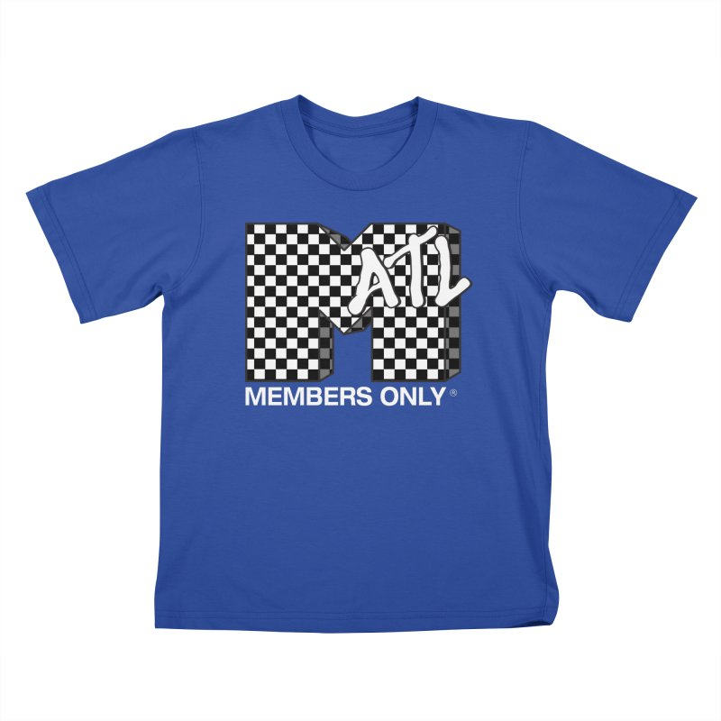 I Want My Members Only Checker White Kids T-Shirt by Members Only ATL Artist Shop