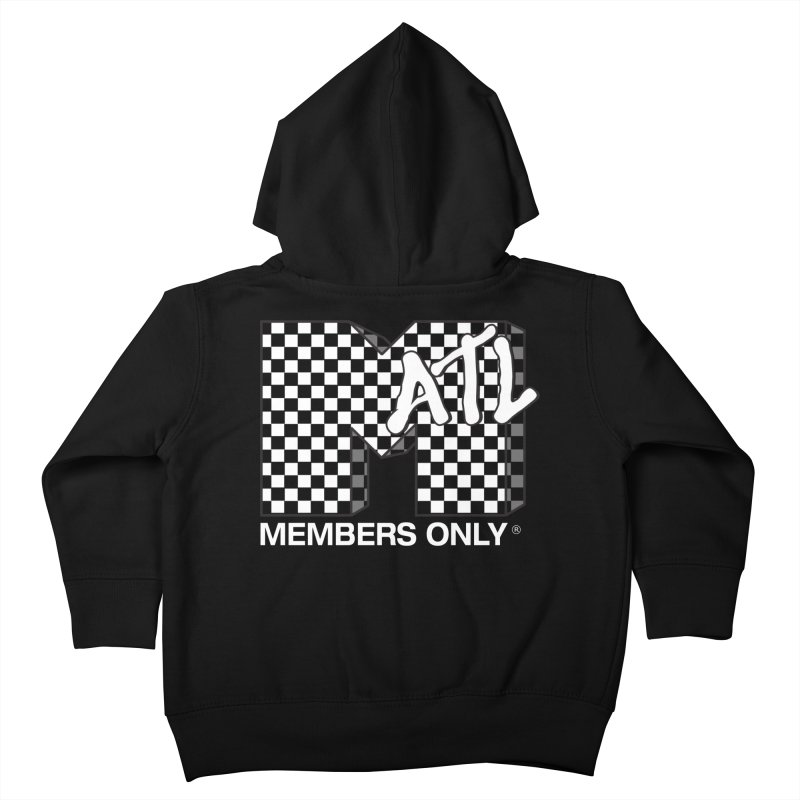 I Want My Members Only Checker White Kids Toddler Zip-Up Hoody by Members Only ATL Artist Shop