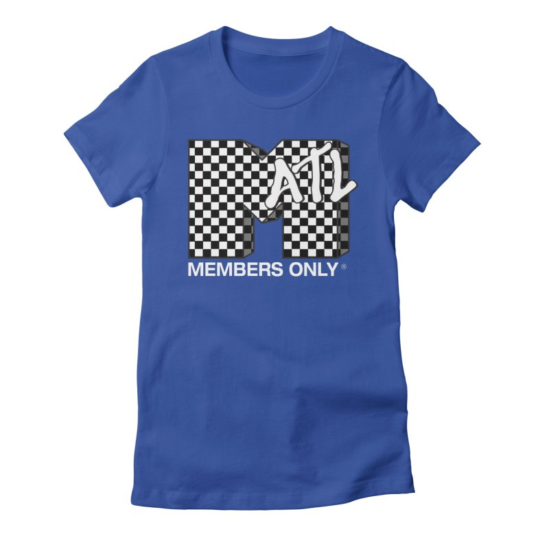 I Want My Members Only Checker White Women's Fitted T-Shirt by Members Only ATL Artist Shop