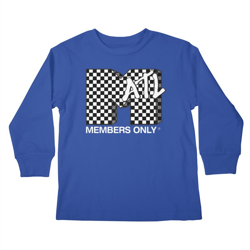 I Want My Members Only Checker White Kids Longsleeve T-Shirt by Members Only ATL Artist Shop