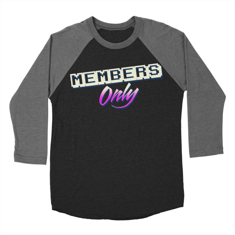 MO Logo Women's Baseball Triblend Longsleeve T-Shirt by Members Only ATL Artist Shop