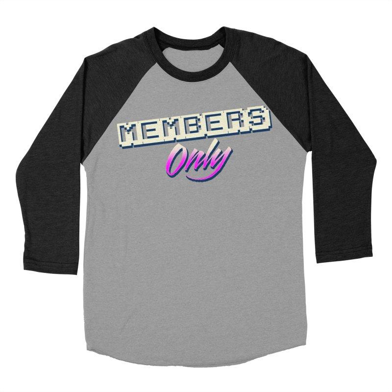 MO Logo Men's Baseball Triblend Longsleeve T-Shirt by Members Only ATL Artist Shop