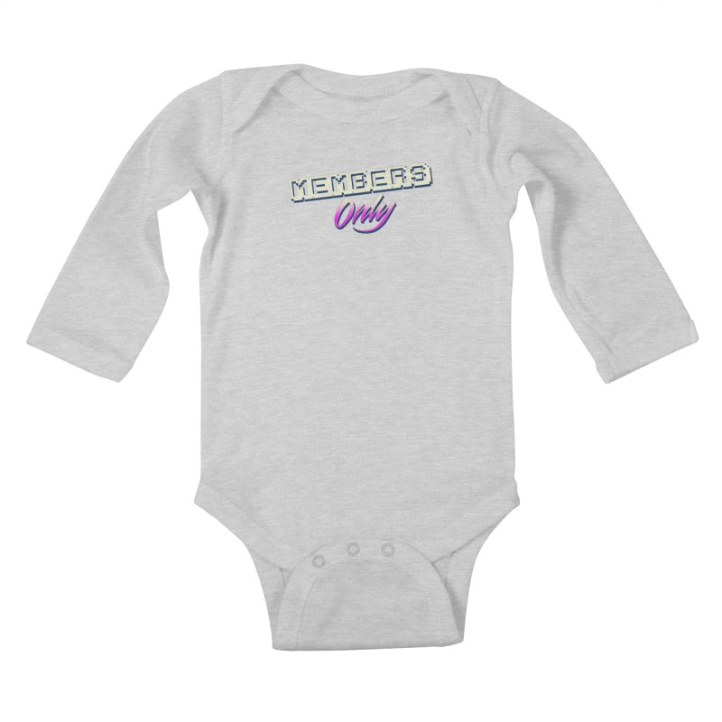 MO Logo Kids Baby Longsleeve Bodysuit by Members Only ATL Artist Shop