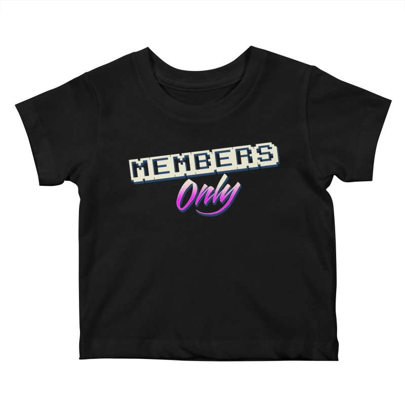 MO Logo Kids Baby T-Shirt by Members Only ATL Artist Shop