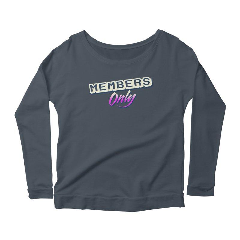 MO Logo Women's Scoop Neck Longsleeve T-Shirt by Members Only ATL Artist Shop