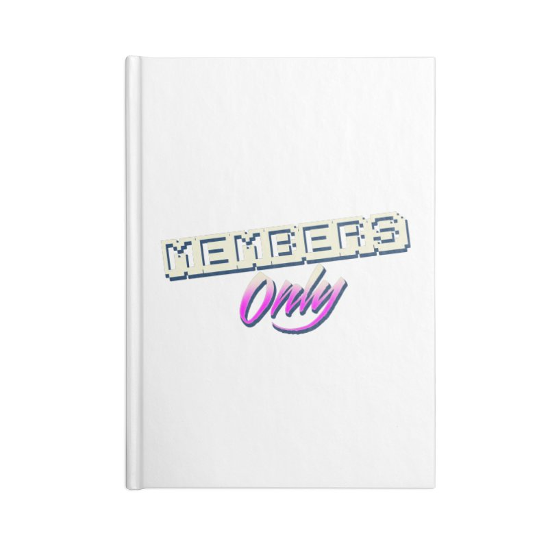 MO Logo Accessories Lined Journal Notebook by Members Only ATL Artist Shop