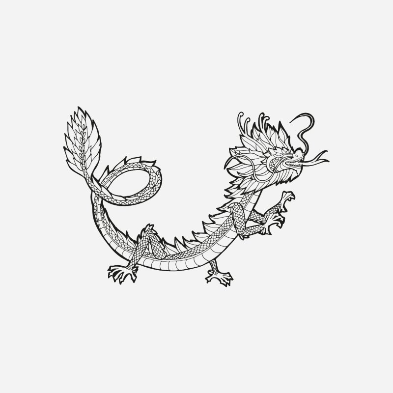 Asian Dragon by menabo's Artist Shop