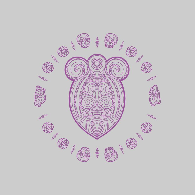 Corazón mexica purple by menabo's Artist Shop