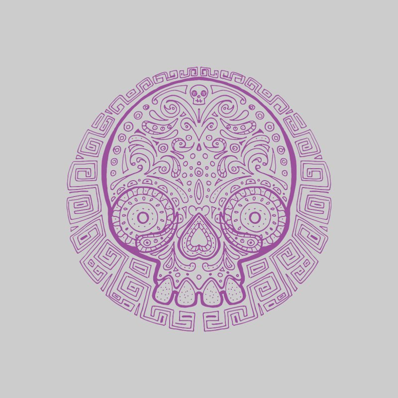 Mictlan skull purple by menabo's Artist Shop