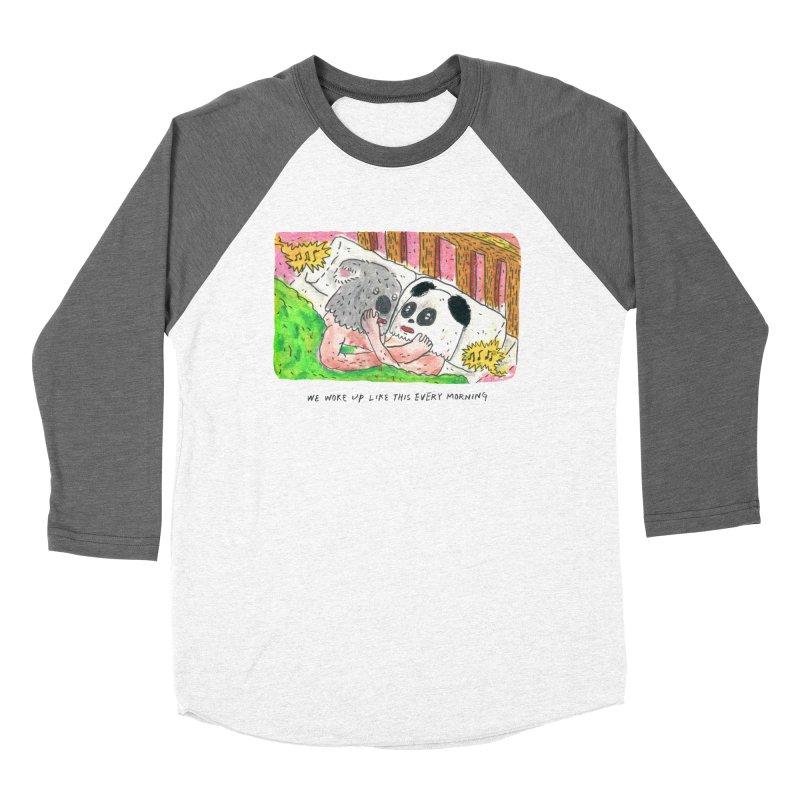 Cuddles Men's Baseball Triblend T-Shirt by mengolee's Artist Shop