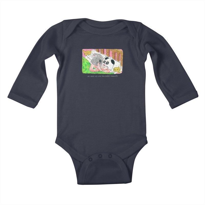 Cuddles Kids Baby Longsleeve Bodysuit by mengolee's Artist Shop