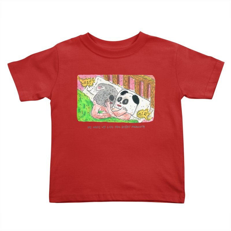 Cuddles Kids Toddler T-Shirt by mengolee's Artist Shop