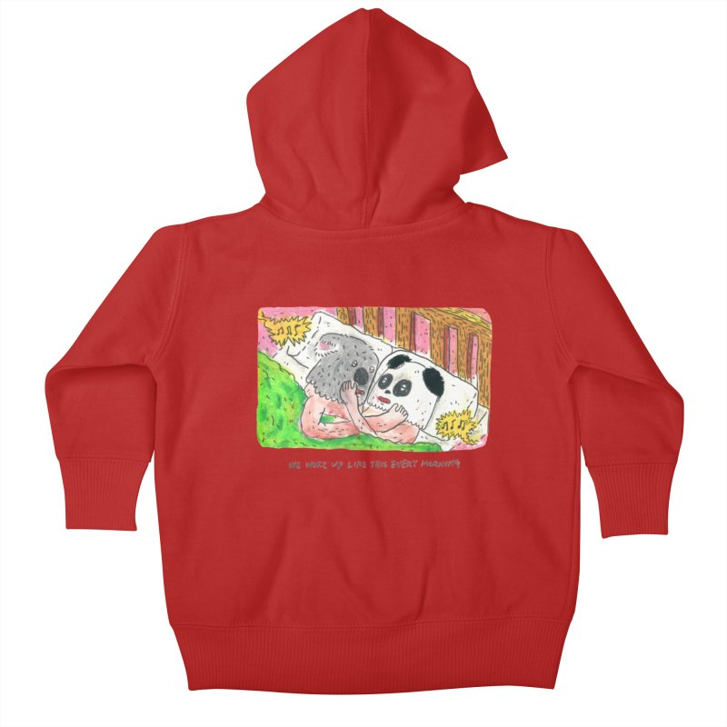 Cuddles Kids Baby Zip-Up Hoody by mengolee's Artist Shop