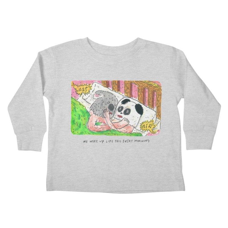 Cuddles Kids Toddler Longsleeve T-Shirt by mengolee's Artist Shop
