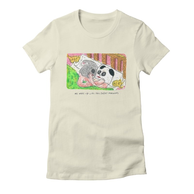 Cuddles Women's Fitted T-Shirt by mengolee's Artist Shop