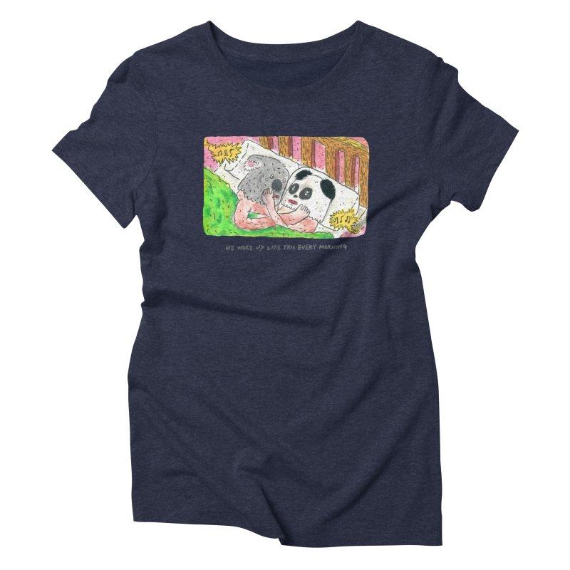 Cuddles Women's Triblend T-Shirt by mengolee's Artist Shop