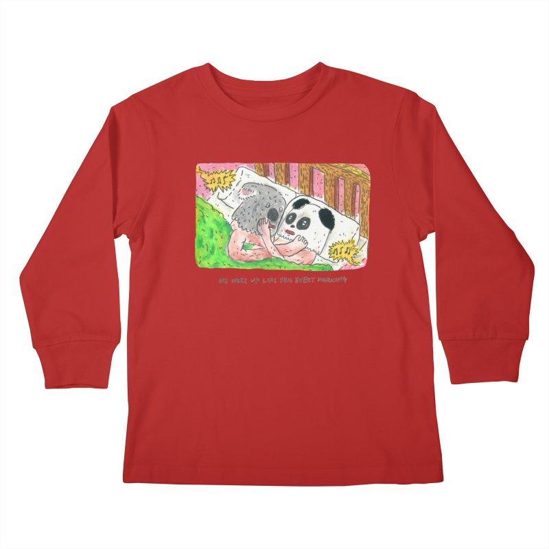 Cuddles Kids Longsleeve T-Shirt by mengolee's Artist Shop