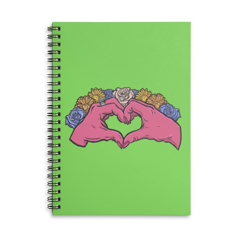 Love Accessories Lined Spiral Notebook by Shirts and Things by Mensen
