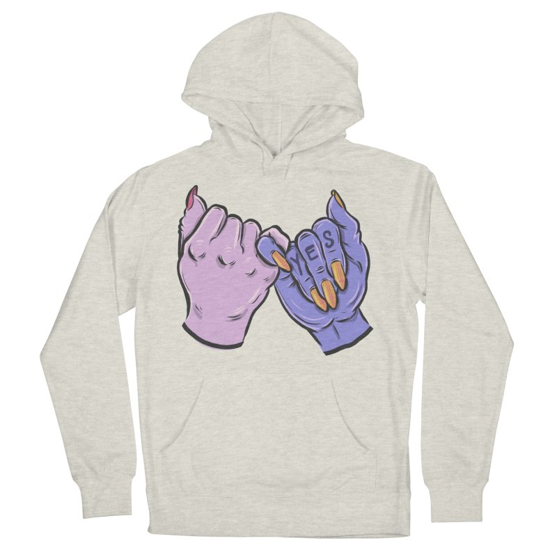 Pinky Swear Men's French Terry Pullover Hoody by Shirts and Things by Mensen