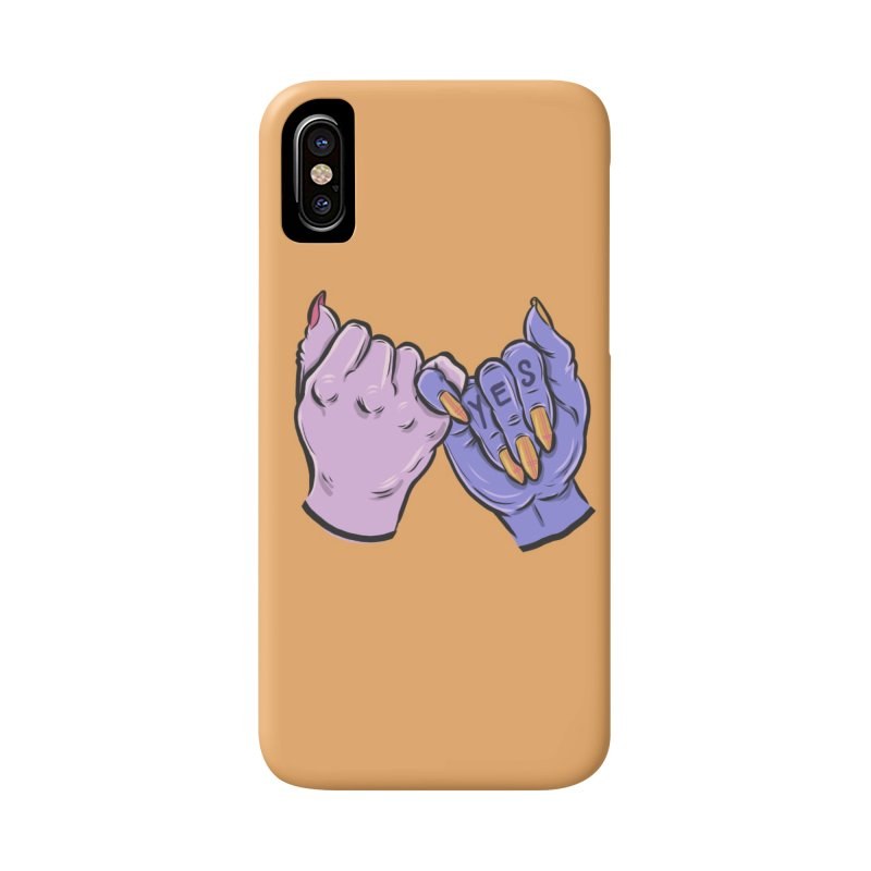 Pinky Swear Accessories Phone Case by Shirts and Things by Mensen