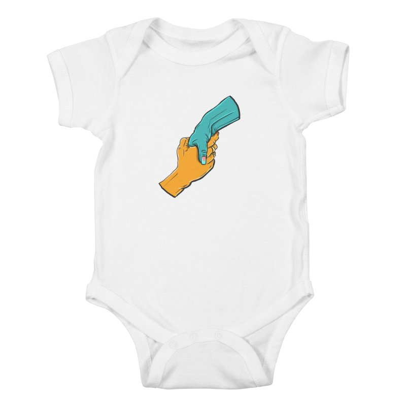 Helping Hand Kids Baby Bodysuit by Shirts and Things by Mensen