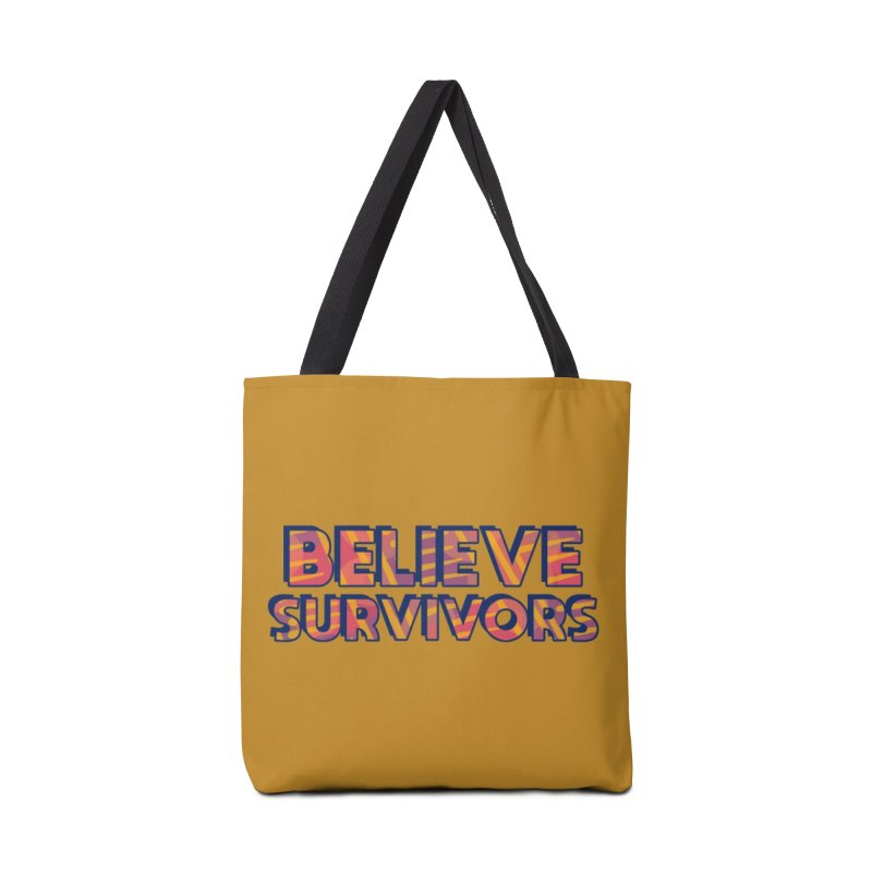 Believe Survivors Accessories Tote Bag Bag by Shirts and Things by Mensen